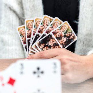 Foto op kaartspel.
