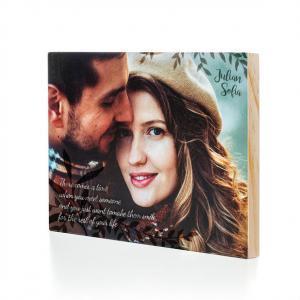 Foto op Hout | 30x20 cm | Foto op Hout goedkoop voor aan de muur | inclusief metalen plaat