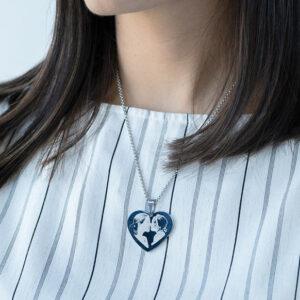 Gegraveerde hanger hartvormig met foto en Naam 3