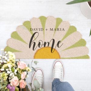 Kokos deurmat met bloemvorm bedrukken Gepersonaliseerde kokos deurmat in bloemvorm