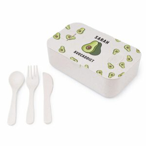 Lunchbox Ecologisch met Naam of Logo bedrukken Van Bamboe19 x 9 cm