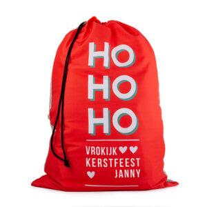 Zak Sinterklaas met eigen Naam Cadeauzak met Naam bedrukken 50 x 70 cm